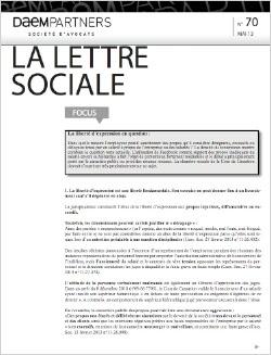 La lettre sociale
